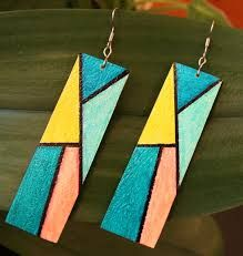 Image result for leather earrings