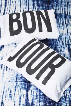 Bon Jour Pillow Case Set