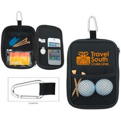 Keep your golf balls, tees and accessories handy in this compact valuables pouch. Also provides storage for your watch, cash and car keys.Features and FactsZippered empty valuables pouchExternal and interior. Circle Magnets, Black Artwork, Golf Gifts, Custom Boxes, Corporate Gifts, Zipper Pouch, Golf Bags, Promotion