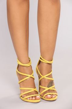 e971682c25a Roll The Dice Heel - Yellow