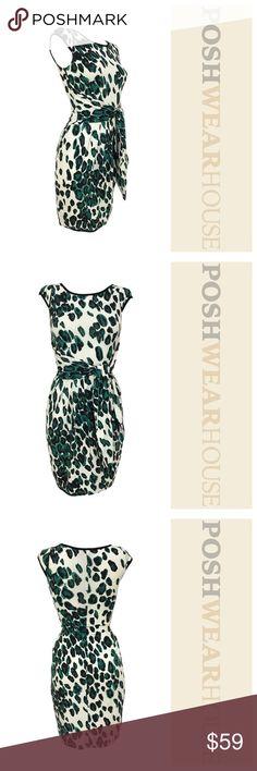 Karen Kane Cheetah Print Faux Wrap Jersey Dress Jersey style dress w/ AMAZING Stretch! • Can Fit up to a SMALL Karen Kane Dresses Midi