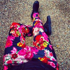 Floral trousers perfect for colorful autumn