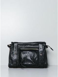 ms by martine sitbon single zip side pocket bag black