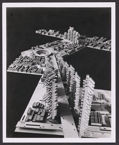 Long view model of Lower Manhattan Expressway, 1970