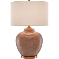 Joaquin Global Bazaar Warm Rust Table Lamp (735 CAD) ❤ liked on Polyvore featuring home, lighting and table lamps