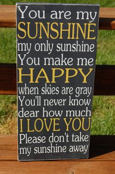 You Are My Sunshine Subway Typography Word Art by ThreeBirdLane, $50.00