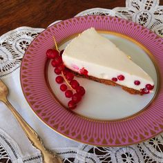 Redcurrants shine in this cheesecake that is lighter than most! It's made with yoghurt as well, which creates a light texture and results in fewer calories...