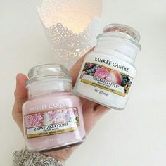 Because no matter how old we are ~ we still like a little girly candle! Yankee Candle - Snowflake Cookie & Sugared Apple