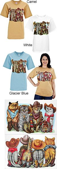 Not in my size...boo hoo!!  Cowboy Cat Tails T-Shirt at The Animal Rescue Site