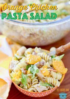 Orange Chicken Pasta Salad The Country Cook - This Orange Chicken Pasta Salad with Orange Poppyseed Dressing recipe has just a few ingredients and is so easy to make and perfect for a picnic! Blt Pasta Salads, Pasta Salad Recipes, Jello Salads, Fruit Salads, Side Dishes For Bbq, Side Dish Recipes, Main Dishes, Macaroni Salad With Ham, Poppyseed Dressing Recipe