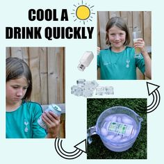 cool a drink quickly using ice and salt #supercool #iceexperiments #scienceforkids #scienceexperiments Preschool Science Activities, Easy Science Experiments, Stem Science, Educational Activities, Play Based Learning, Early Learning, Fun Learning, Summer Science, Science For Kids