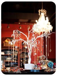 Love this jewelry tree idea ~ Page 6 Boutique |