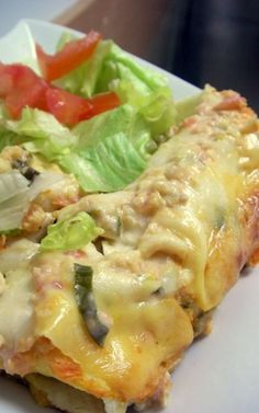 Sour Cream Chicken Enchiladas... creamy bundles of yumminess