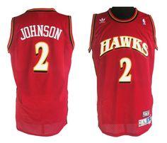 Adidas NBA Atlanta Hawks 2 Joe Johnson Mitchell Ness Soul Swingman Stitched  Red Jersey 002c9aa96