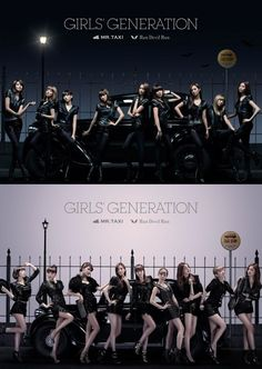 Girls' Generation on the covers of their 'Mr.Taxi' / 'Run, Devil, Run' Deluxe Japanese album