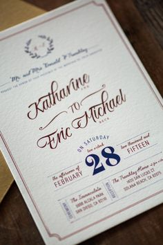Rustic Wedding Invitation: Classic and Modern by WideEyesPaperCo