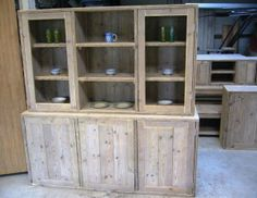 vitrinekast steigerhout