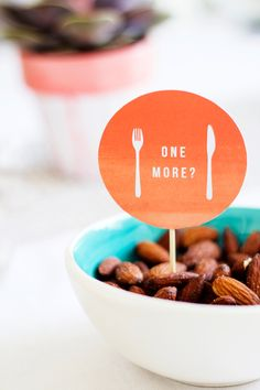 """""""One More"""" and """"I'm Tasty"""" Party Printables by The Lovely Drawer"""
