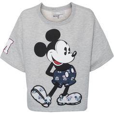 Paul & Joe Sister X DISNEY Cool Mickey Heather Grey // Shortsleeve... (€99) ❤ liked on Polyvore featuring tops, t-shirts, shirts, sweaters, summer shirts, short sleeve shirts, t shirt, print shirts and heather gray t shirt