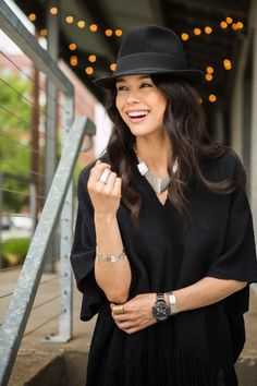 Jet Black Basics: Make your sterling silver stand out in a cozy black sweater. #FallFashion