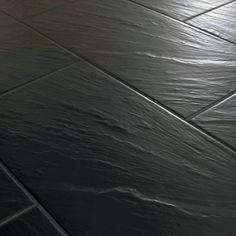 30x60cm Pizarra Black Slate Effect Tile