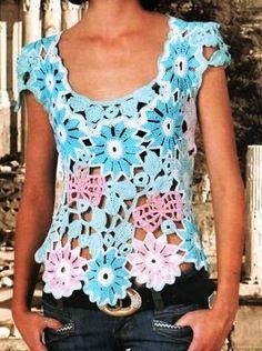 летняя блузка крючком