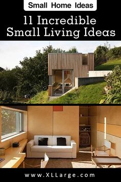 11 Amazing small home ideas. Discover the art of living in a small space. These small living ideas will inspire and give you some great home ideas for small spaces. Small Space Living, Art Of Living, Small Spaces, Big Houses, Tiny House, Shed, The Incredibles, Inspire, Outdoor Structures