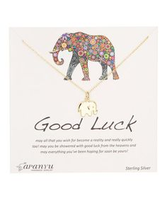 Another great find on #zulily! Goldtone Good Luck Inspiration Necklace #zulilyfinds