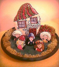 Különleges Manó csomag, Baba-mama-gyerek, Játék, Gyerekszoba, Játékfigura, Festett tárgyak, Festészet, Meska