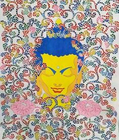 """Join us November 6 through December 4 for a special preview exhibition of TRANSCENDING TIBET. http://gaton.trace.org  """"Gay-pa (Blooming)"""" by Tulku Jamyang"""