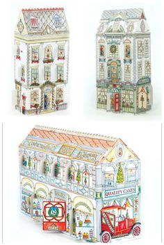 Traditional German style non chocolate advent calendars. Build a Christmas village!
