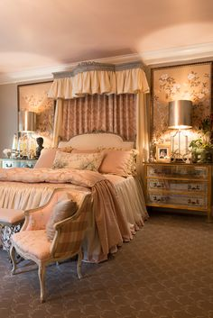 Master Bedroom details - Interiors by Kimberly Krigg Cozy Bedroom, Dream Bedroom, Bedroom Ideas, Bedroom Decor, Beautiful Bedrooms, Romantic Bedrooms, Hill Interiors, Interior Decorating, Interior Design