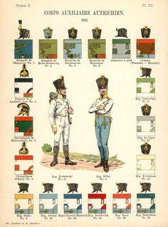 Австрия 1812  Союзные войска. Uniformes de I'Armee Francaise 1690-1894 Lienhart & Humbert