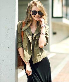 Army Green Jacket Women