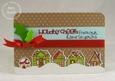 Card by PS DT Kim Kesti using the PS Christmas Words dies and Bitty Bungalows stamp set
