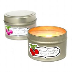 How to Make Homemade Massage Candles - Homemade massage candle recipe and free printable labels.
