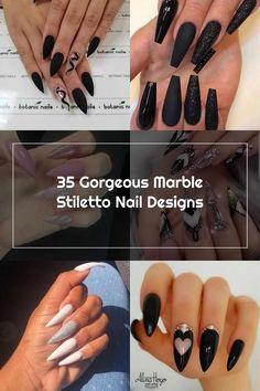 Stiletto Nails, Nail Designs, Marble, Beauty, Nail Desings, Granite, Marbles, Beauty Illustration, Nail Design