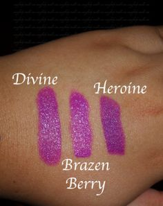 MAC Heroine Lipstick Comparison: I have Covergirl Divine and Maybelline Brazen berry, do I really need MAC Heroine???Hmmm......