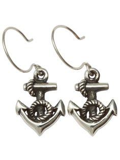"""""""Little Anchors"""" Earrings by Femme Metale"""