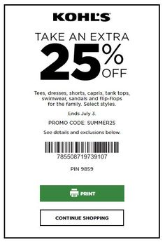 kohls 20 off coupon june 2019
