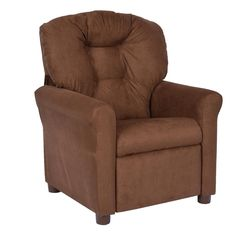 This Crew Furniture Juvenile Recliner is perfect for playing video games, listening to music, watching TV, reading and relaxing.<br><br>The Crew Furniture Juvenile Recliner - Brown Microfiber Features:<br><ul><li>Approximate dimensions: 19.75 inch length x 20.5 inch width x 27 inch height.</li><br><li>Weight limit 78 pounds</li><br><li>Great for reading, playing video games, watching TV, relaxing.</li><...