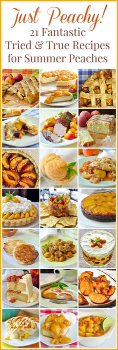 Best Peach Recipes - 21 recipes for peach lovers! The very best peach recipes from the last 8 years on Rock Recipes!