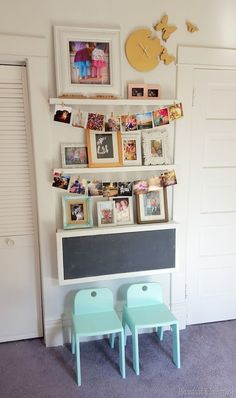 DIY fold-down children's desk with storage inside, and chalkboard on outside... FREE PLANS! {Sawdust and Embryos}
