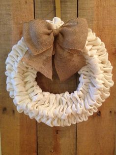 Such a gorgeous white burlap bubble wreath! Four layers of bubbles burlap make this wreath look full! If you want a different look, just request
