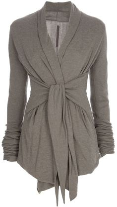 Wrap Cardigan - Rick Owens This looks like something that would work really well on a big bust!