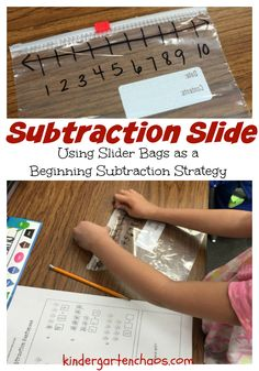 Subtraction Slide - 15+ Fun and Free Ideas for Teaching Subtraction - kindergartenchaos.com