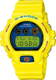 Mens G-Shock Polarized Color Series Watch in yellow (DW-6900PL-9) // Free Shipping in Australia