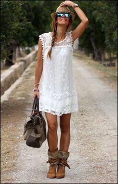 koronkowa sukienka boho