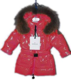 Moncler Jacket Bright Kids Red