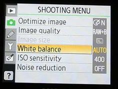 How to use your digital SLR camera white balance settings - auto, custom, preset, daylight, tungsten, fluorescent, flash, cloudy and shade.